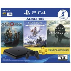 Playstation 4 1TB Hits 4 Bundle + 3 meses plus