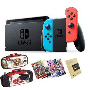 Nintendo Switch V2 + Juego a elección + Mica de vidrio + Bolso original