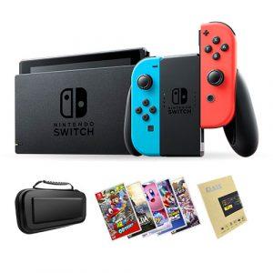 Nintendo Switch V2 + Juego a elección + Mica de Vidrio + Bolso