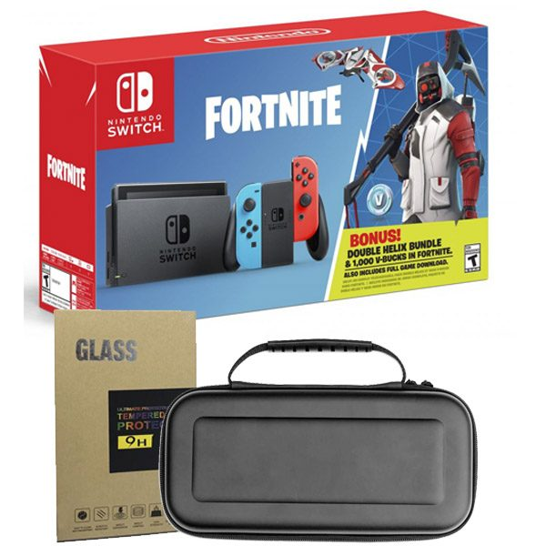 Nintendo Switch Neon Double Helix Bundle + Mica de Vidrio + Bolso