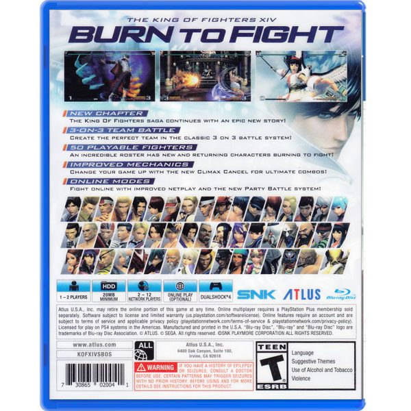 The King of Fighters XIV Steelbook Edition