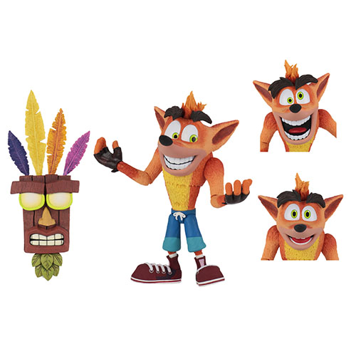 Crash Bandicoot con Aku Aku 7″ – Neca