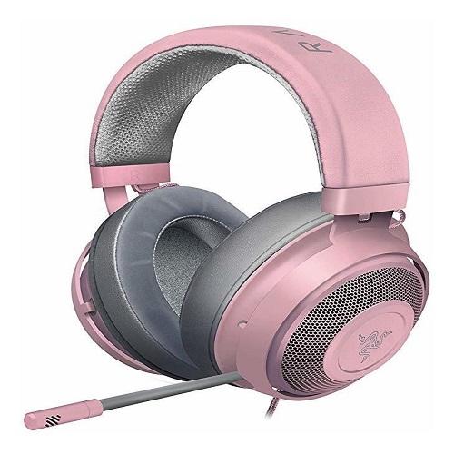 Audifonos Razer kraken Quartz Pink.