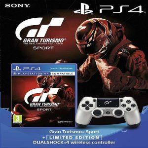 Control Dualshock 4 Silver Limited Gran Turismo + Gran Turismo Sport
