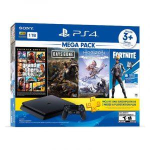 Playstation 4 Slim 1 TB Hits Bundle ( GTA V+DAYS GONE+HORIZON+FORTNITE)