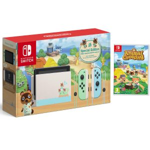 Nintendo switch Animal Crossing + Juego animal Crossing + Mica + bolso