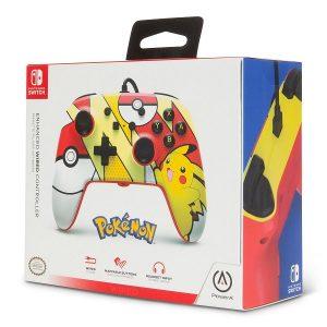 Control alambrico Switch Pokemon Pikachu Red